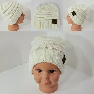 Other - Baby Beanie hats thermal protective White